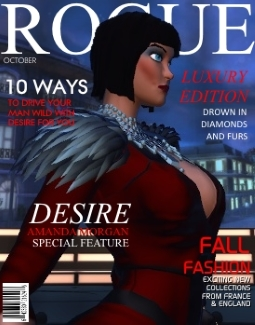 Last year's October issue of iconic fashion magazine 'Rogue' featuring Amanda Morgan on the cover.